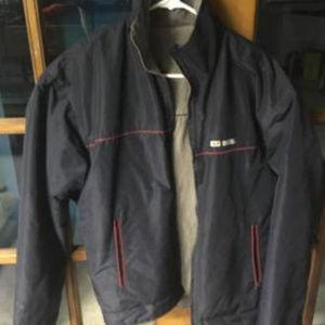 Diesel Vintage Blue Hood Reversible Rain Jacket M